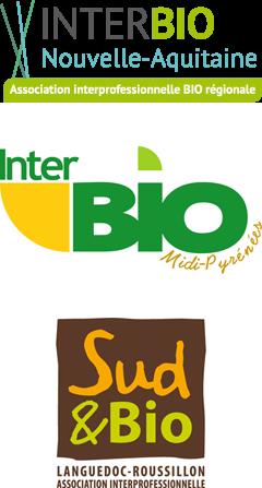 Les partenaires d'Agribio Union, producteur de céréales biologiques : Interprofessions bio régionales