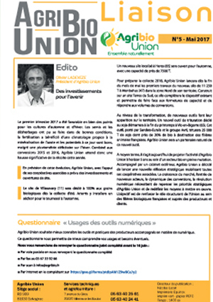 Agribio Union - Liaison No 5 - Mai 2017